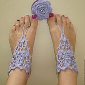 Украшения ручной работы. Ярмарка Мастеров - ручная работа вязаные украшения для ног. Handmade.