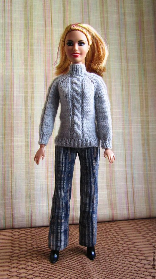 Одежда для кукол ручной работы. Ярмарка Мастеров - ручная работа. Купить Комплект для кукол типа Barbe, Liv. Handmade. Серый