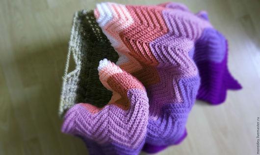 Текстиль, ковры ручной работы. Ярмарка Мастеров - ручная работа. Купить Плед для отдыха в стиле Missoni Клубничное мороженое. Handmade.