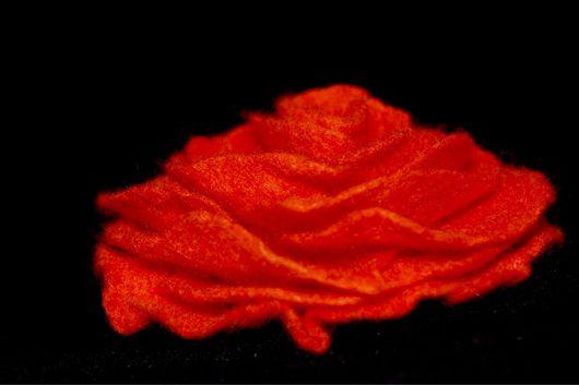 Броши ручной работы. Ярмарка Мастеров - ручная работа. Купить Брошь-роза из войлока. Handmade. Комбинированный, подарок, шерсть