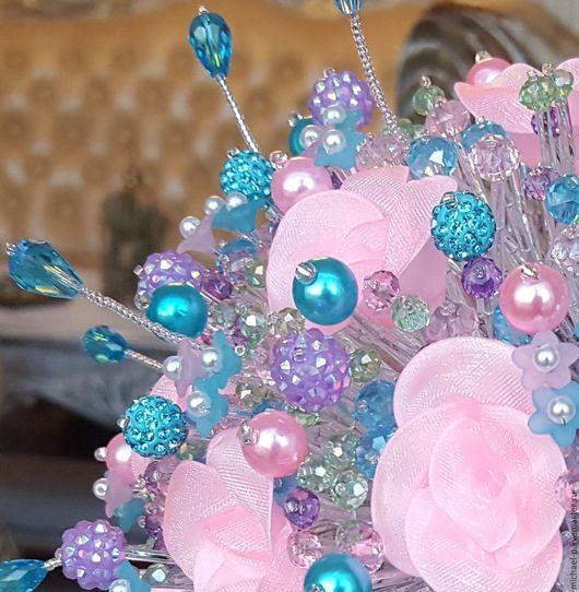 """Свадебные цветы ручной работы. Ярмарка Мастеров - ручная работа. Купить Букет невесты """"NEGA"""". Handmade. Комбинированный, бирюзовый, оригинальный"""