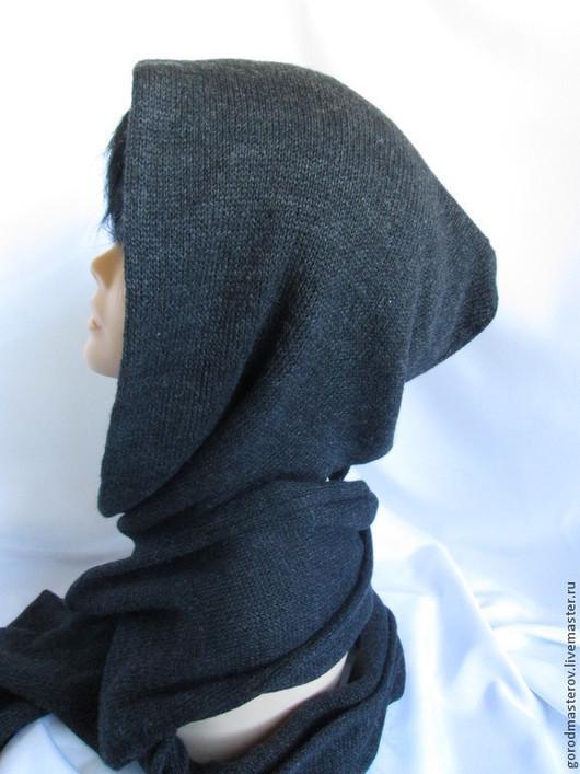 Капюшоны ручной работы. Ярмарка Мастеров - ручная работа. Купить Мужской  Шарф-капюшон +митенки мужская шапка с шарфом, шарф капюшон. Handmade.