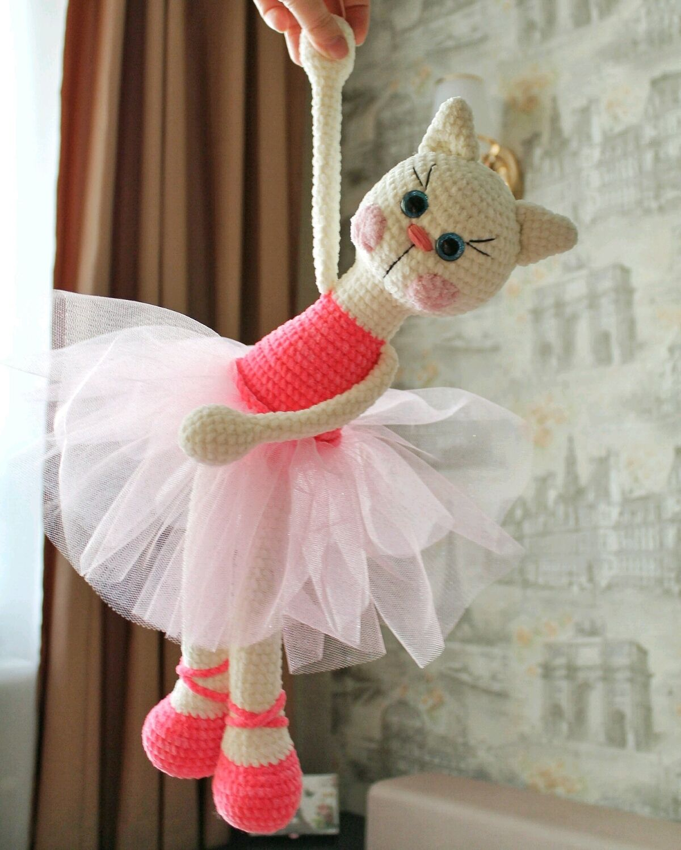 Кошка балерина в юбке, Мягкие игрушки, Москва,  Фото №1