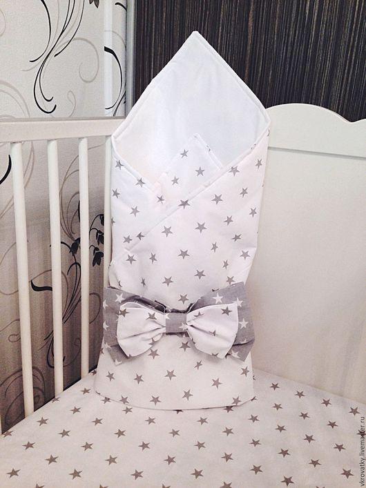 Для новорожденных, ручной работы. Ярмарка Мастеров - ручная работа. Купить Конверт-одеяло на выписку. Handmade. Конверт, одеяло для новорожденного