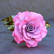 Цветы ручной работы. Ярмарка Мастеров - ручная работа Светло-розовая роза (латунь), модель №1. Handmade.
