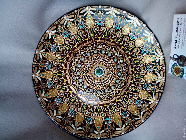 Декоративная тарелка Поле чудес.