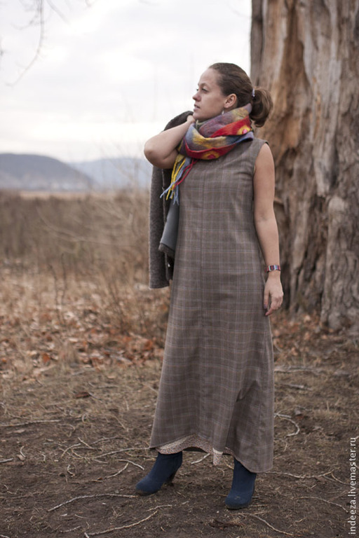 """Платья ручной работы. Ярмарка Мастеров - ручная работа. Купить платье """"Ноябрь"""". Handmade. Серый, длинное платье, женская одежда"""