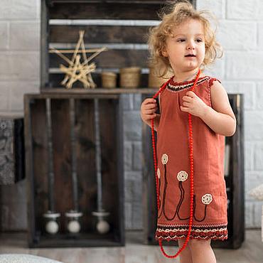 """Работы для детей, ручной работы. Ярмарка Мастеров - ручная работа Платье для девочки  2-4 года """"Одуванчики"""". Handmade."""