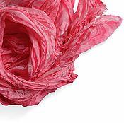"""Аксессуары ручной работы. Ярмарка Мастеров - ручная работа Шарф шелковый батик.""""Шиповник"""".Шелковый шарф.. Handmade."""