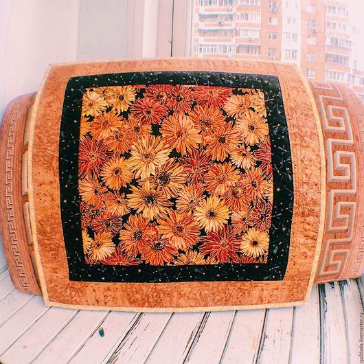 Текстиль, ковры ручной работы. Ярмарка Мастеров - ручная работа. Купить Лоскутная подушка Астры. Handmade. Подушка, печворк