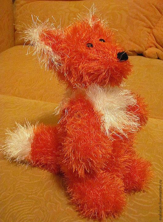"""Персональные подарки ручной работы. Ярмарка Мастеров - ручная работа. Купить Вязаная""""Лисичка Апельсинка"""". Handmade. Рыжий, добрый подарок"""