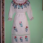 Одежда ручной работы. Ярмарка Мастеров - ручная работа Вышитые сорочка и фартук. Handmade.