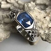 Украшения handmade. Livemaster - original item Ring with warm Blue Sapphire 2,34 ct in 925 sterling silver handmade. Handmade.