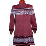 Одежда handmade. Livemaster - original item Knitted sweater dress with Celtic amulet ornament. Handmade.