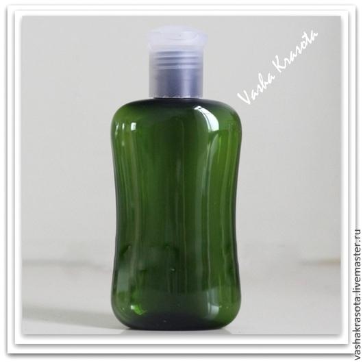 Упаковка ручной работы. Ярмарка Мастеров - ручная работа. Купить Флакон фигурный для шампуня 100 мл.(зеленый). Handmade. Болотный