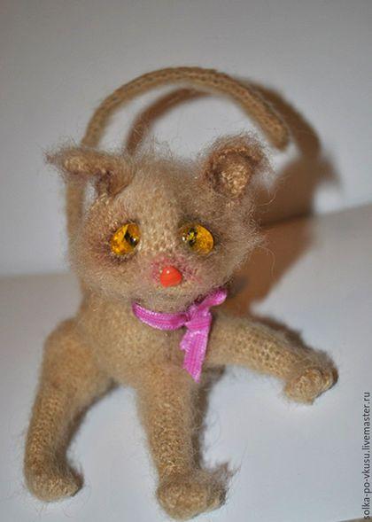 Куклы и игрушки ручной работы. Ярмарка Мастеров - ручная работа. Купить Кошарик. Handmade. Бежевый, кот вязаный крючком