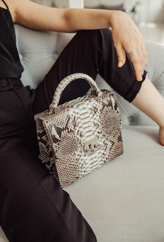 Bag Python natural color, Crossbody bag, Izhevsk,  Фото №1