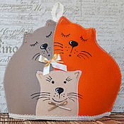 Грелка на чайник коты