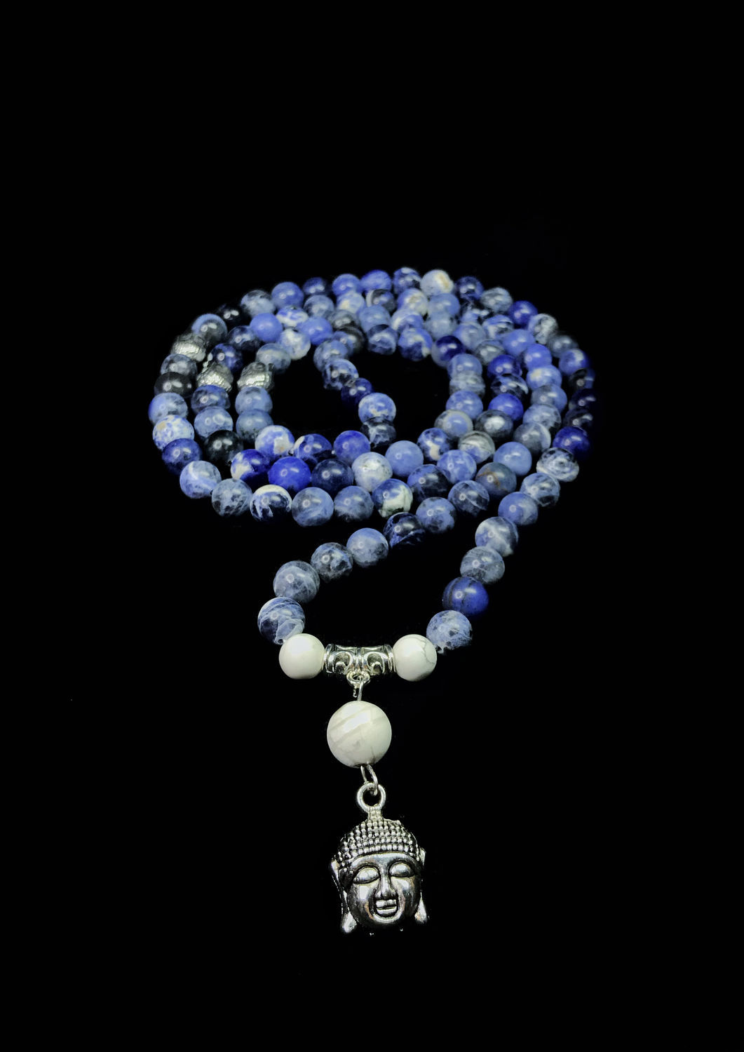 Beads of natural sodalite, Rosary, Moscow,  Фото №1