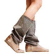 Обувь ручной работы. Ярмарка Мастеров - ручная работа Летние сапоги с кристалами SWAROVSKI. Handmade.