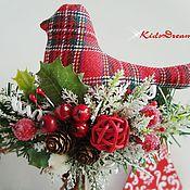 """Подарки к праздникам ручной работы. Ярмарка Мастеров - ручная работа Птички """"Рождество"""". Handmade."""