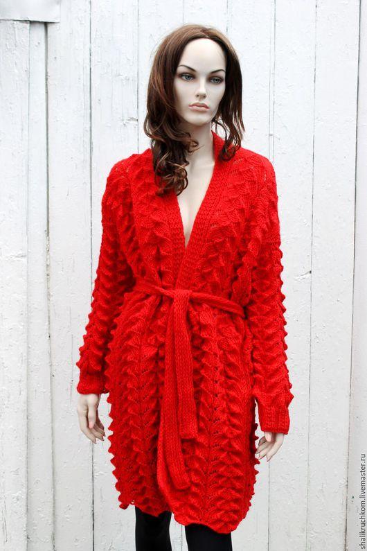 Кофты и свитера ручной работы. Вязаный эксклюзивный женский кардиган