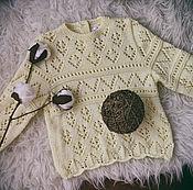 Работы для детей, ручной работы. Ярмарка Мастеров - ручная работа Ажурный свитерок. Handmade.