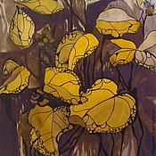 Картины и панно ручной работы. Ярмарка Мастеров - ручная работа Картина. Растения в коричневом. Handmade.