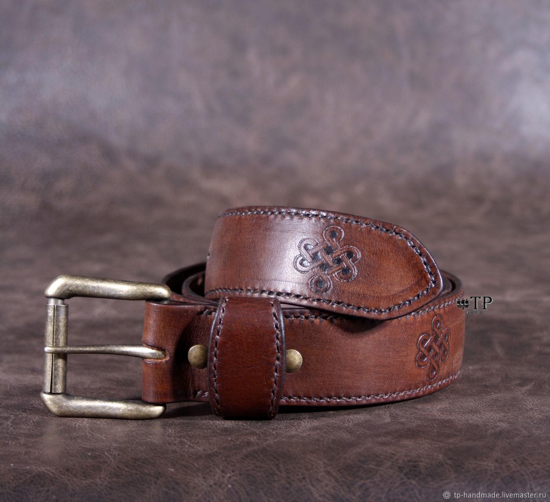 """Men's leather belt """"Vintage"""", Straps, St. Petersburg,  Фото №1"""