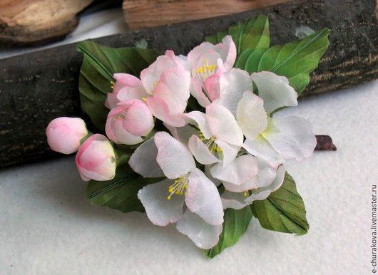 Цветы ручной работы. Ярмарка Мастеров - ручная работа. Купить Цветы из шелка. Яблоневый цвет. Цветы из ткани.. Handmade.