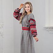 Русский стиль handmade. Livemaster - original item Traditional linen dress Chaldony. Handmade.