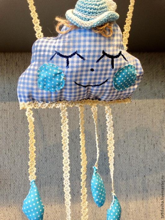 Подарки для новорожденных, ручной работы. Ярмарка Мастеров - ручная работа. Купить подвеска-кармашек для соски или платка. Handmade. Голубой