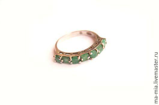 Кольца ручной работы. Ярмарка Мастеров - ручная работа. Купить кольцо Изумрудная дорожка. Handmade. Зеленый, кольцо с изумрудами