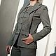 """Пиджаки, жакеты ручной работы. Ярмарка Мастеров - ручная работа. Купить Жакет женский """"Дуэт"""". Handmade. Серый, офисный стиль"""