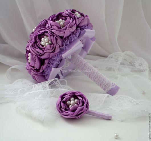 """Свадебные цветы ручной работы. Ярмарка Мастеров - ручная работа. Купить Свадебный брошь букет невесты """"Жемчуг"""". Handmade."""