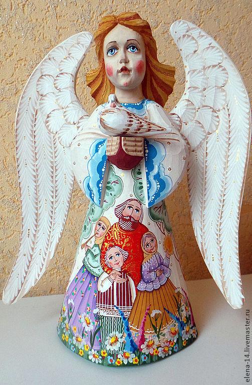 Сувениры ручной работы. Ярмарка Мастеров - ручная работа. Купить Ангел. Handmade. Ангел, ангелочек, рождество, гуашь