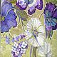 Платья ручной работы. Шелковое платье  Анютки - Полевые цветы. BATIK&STYLE. Ярмарка Мастеров. Одежда, купон, летнее настроение, крепдешин