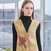 Одежда ручной работы. Ярмарка Мастеров - ручная работа Жилет женский валяный  Ирис. Handmade.