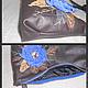 Женские сумки ручной работы. Сумка кожаная с цветком арт.1-320. Света (i07s03v). Ярмарка Мастеров. натуральная кожа