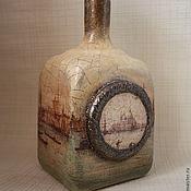 """Посуда ручной работы. Ярмарка Мастеров - ручная работа Бутылка """"Венеция"""". Handmade."""