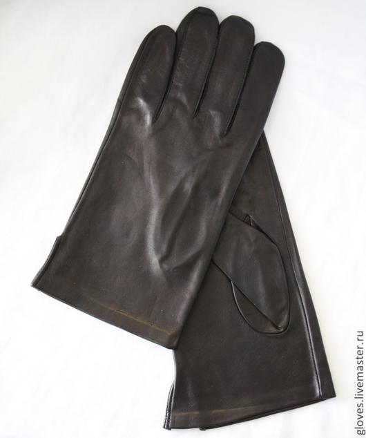 Варежки, митенки, перчатки ручной работы. Ярмарка Мастеров - ручная работа. Купить Перчатки мужские кожаные классические без подкладки и отделок. Handmade.