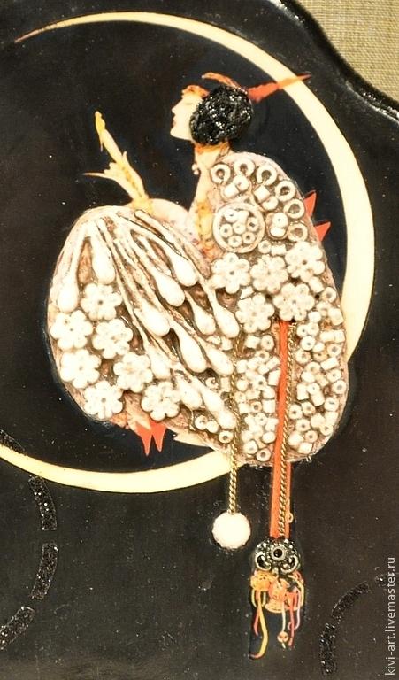 """Часы для дома ручной работы. Ярмарка Мастеров - ручная работа. Купить Настольные часы  """"Ар-Нуво"""". Handmade. Черный"""
