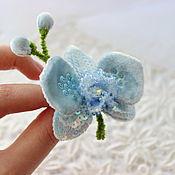 """Украшения ручной работы. Ярмарка Мастеров - ручная работа Орхидея """"Небесно голубая"""".. Handmade."""