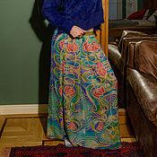 Одежда ручной работы. Ярмарка Мастеров - ручная работа Шелковая юбка Арабески. Handmade.