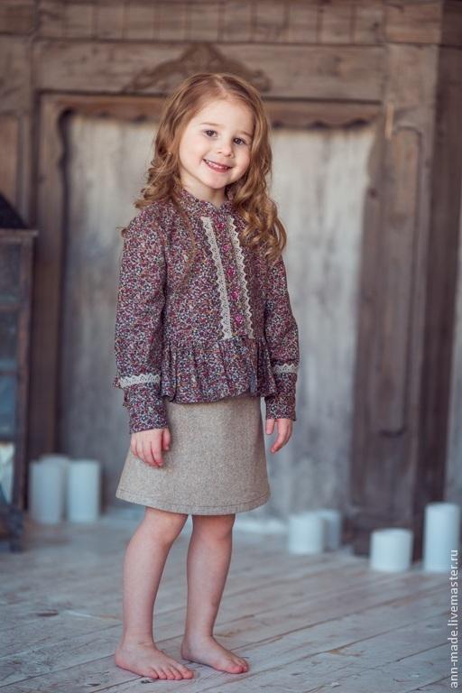 Одежда для девочек, ручной работы. Ярмарка Мастеров - ручная работа. Купить Юбка (Арт.: Д-20a). Handmade. Бежевый