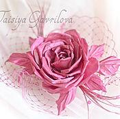 """Шляпы ручной работы. Ярмарка Мастеров - ручная работа Мини вуалетка """" Роза Пинк"""". Handmade."""