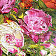 Oil painting of Roses in a transparent vase. Pictures. Zabaikalie. My Livemaster. Фото №4