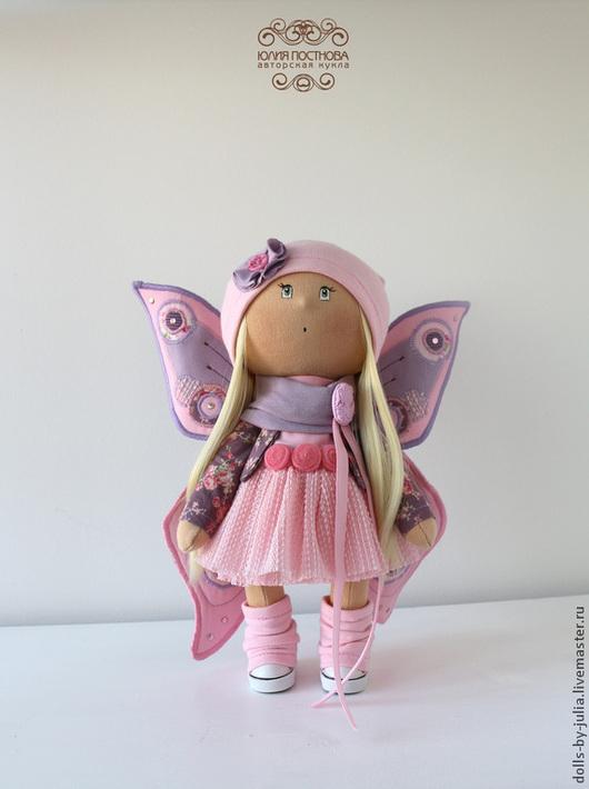 Коллекционные куклы ручной работы. Ярмарка Мастеров - ручная работа. Купить Little Butterfly. Handmade. Розовый, кукла на заказ, dolls