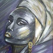 Картины и панно handmade. Livemaster - original item Painting on canvas. African.. Handmade.
