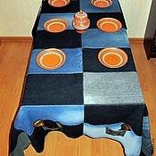 Для дома и интерьера ручной работы. Ярмарка Мастеров - ручная работа Джинсовая скатерть. Handmade.